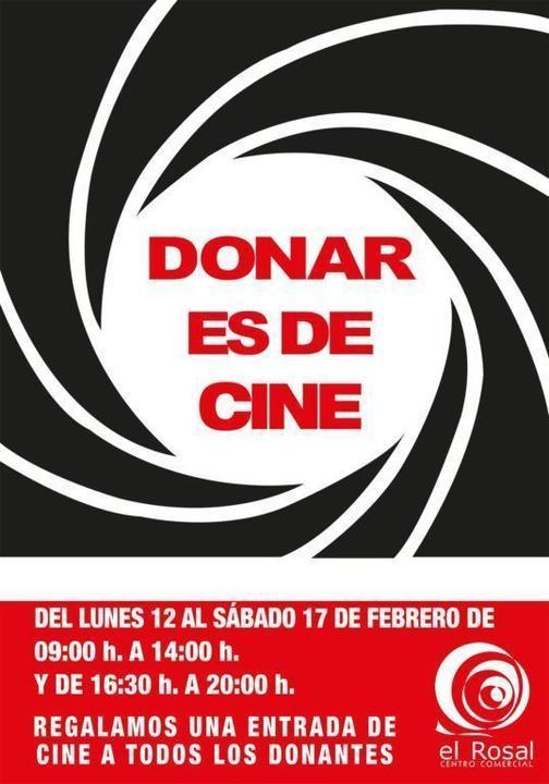 Donar es de cine