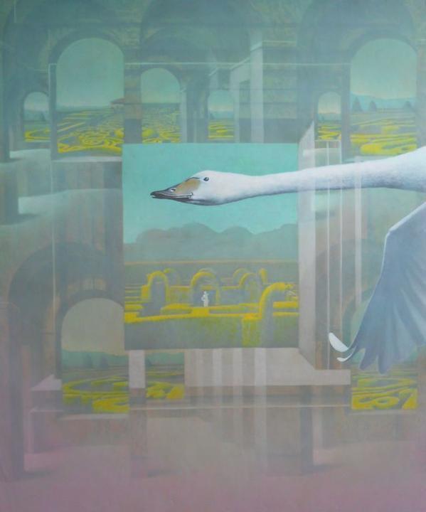 (01) Adolfo Álvarez Barthe. 2018. KUNDRY. Temple sobre tabla, 120X100 cms