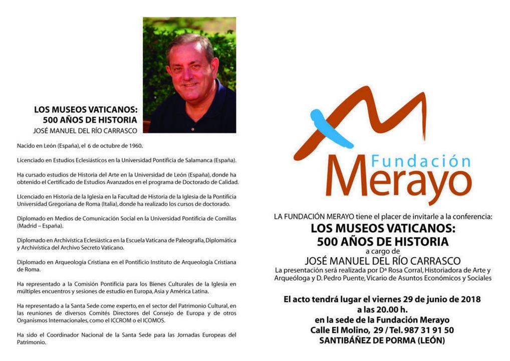Invitación JOSE MANUEL DEL RIO CARRASCO