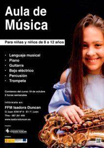 Cartel aula de música