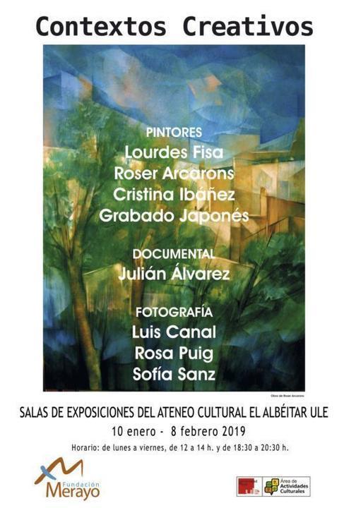 CARTEL EXPOSICION CONTEXTOS CREATIVOS -ALBÉITAR 2019