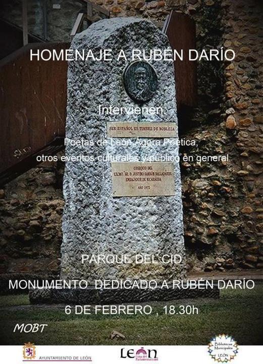 Cartel homenaje Rubén Darío