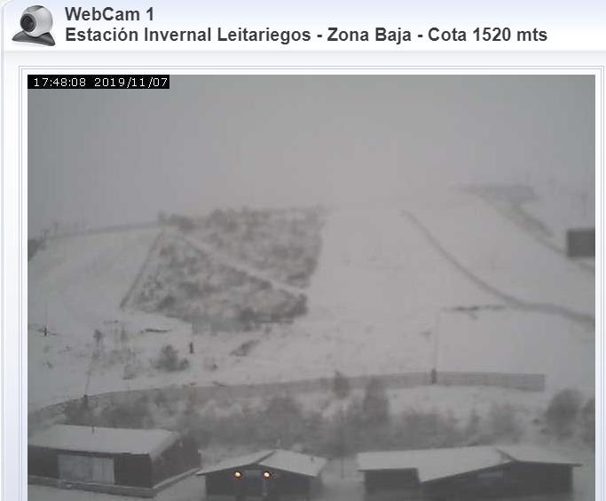 Imagen webcam estación esquí Leitariego http://www.leitariegos.net/webcams.phps